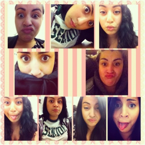 This is Quiana @quianacordova and these are half of the pictures she takes in my iPod :). She's really sweet and a beautiful young lady and I'm proud to call her my bestie 💕 #bestfriends #loveher #silly