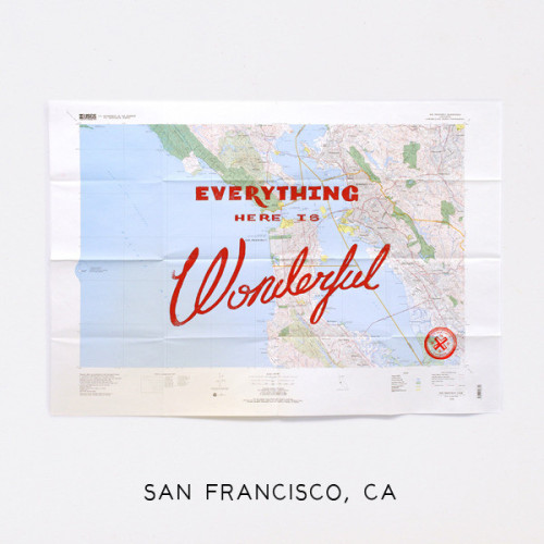 Diggin New York-based Best Made Company's Wonderful Silk Screened Maps. The maps, handmade in St. Paul, Minnesota, capture 23 different locales, some of them very random. Peep game.