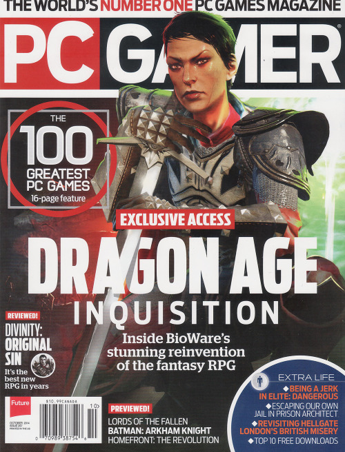 lyriumbrownies:  Cassandra Pentaghast on the cover of PC Gamer