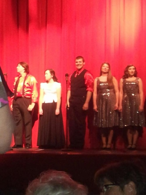 Really bad picture of me during the senior choral award thing.