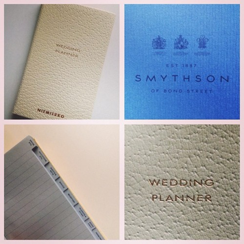 The Smythson wedding planner with a touch of Niemierko.  Because not only Niemierko assistants need to make notes. Niemierko Brides do to. #weddingplanner #smythson #niemierko