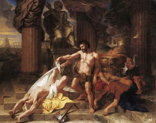 monsieurlabette:  Hercules punishing Busiris. 1675. Jean Baptiste Corneille. French. 1646-1695.