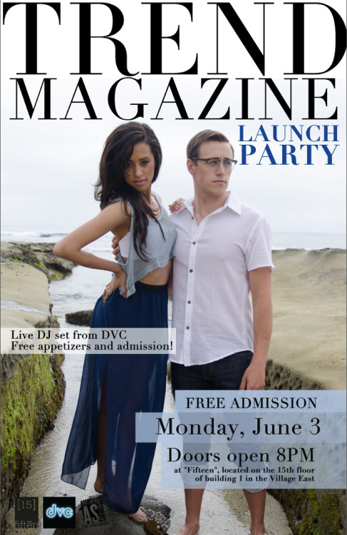 its finallly here! spring/summer issue launch party! :D come come and socialize with TREND magazine!