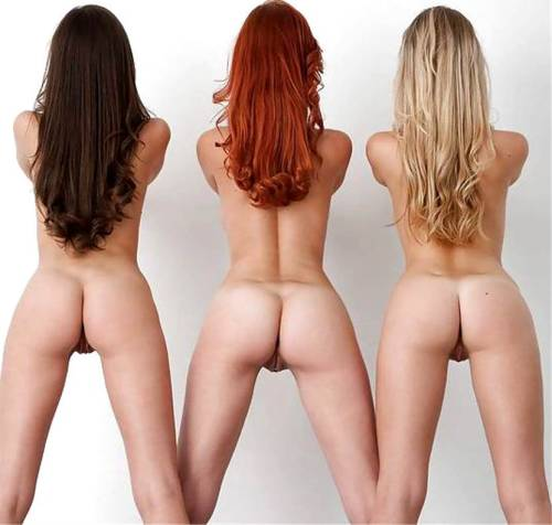 Three really cute behinds displayed for us!