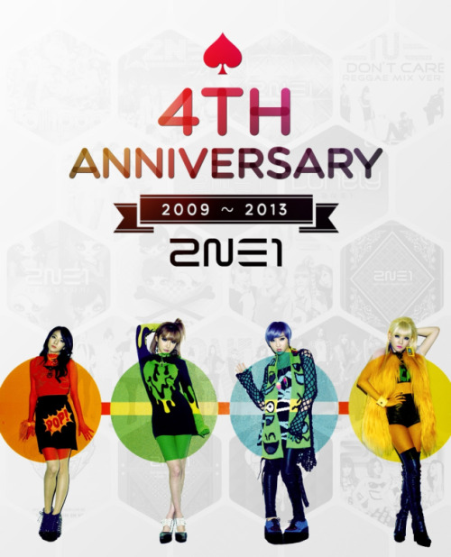 2009~2013. 4 years going strong, Happy 4th Anniversary 2NE1 ♥ 4 girls, 4 colours, 4 personalities, 4 years, 1 2NE1. May the amazing foursome be able to continue to create many many many more wonderful and spectacular memories together as a group. We hope each and everyone of the girls will always be able to reach their dreams and goals and continue on strong as 2NE1! Continue to make music that inspires and connects their fans worlwide, and forever be Blackjacks' 2NE1. 2NE1 NOLJA!! Forever and always. #4everBeOur2NE1 – EM Staff