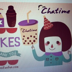 Here is the FB cover I did for Chatime Malaysia 100,000 likes in FB! Congrats!  #drawing #illustration #FB #cover #photo #chatime #malaysia #girl #cute #tea #100,000 #likes #minifanfan
