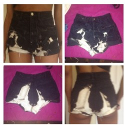 #azariahstyles #bleachedshorts #customdenim #moneymotivated