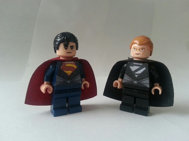 Man of Steel Movie Superman and Zod -edario