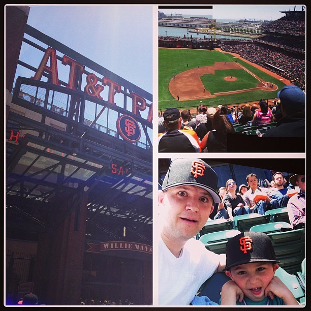 San Francisco bucket list item #2: Giants game with Cohen (1st time for both of us) #sfbucketlist #attpark (at AT&T Park)