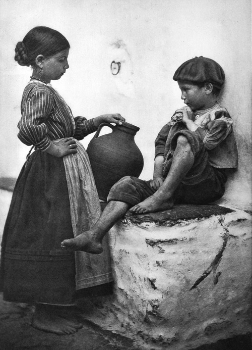 -Brother and sister. Sierra de Gredos, 1920s photo by Jose Ortíz Echagüe update? by Fr. Christiansen