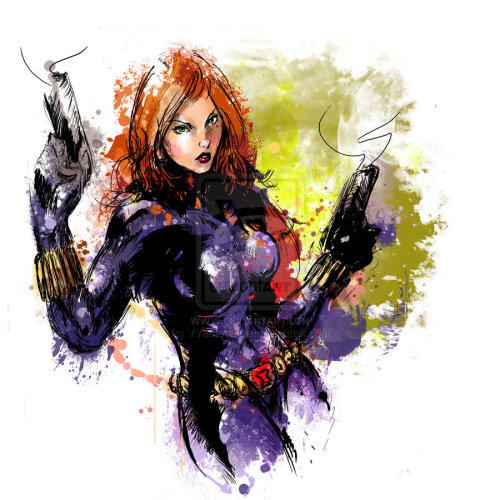 mechamelissa:  Black Widow by ~VVernacatola