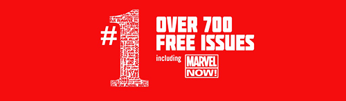 As part of their new digital initiative, Marvel has released 700 #1 issues for free online through their digital comic shop and Comixology. The offer lasts until this Tuesday, March 12th. So, here's a round up of some of the free issues that feature our favorite Avenging Archer. It's a great chance to try something new or see what you've missed.  Hawkeye Volume 4 #1 by Matt Fraction and David Aja New Avengers: The Reunion #1 by Jim McCann and David López Hawkeye and Mockingbird #1 by Jim McCann and David López Widowmaker #1 by Jim McCann and David López  Hawkeye: Blind Spot #1 by Jim McCann and Paco Diaz Ultimate Comics Hawkeye #1 by Jonathan Hickman and Rafa Sandoval Marvel Universe vs the Avengers #1 by Jonathan Maberry and Aaron Kuder Dark Reign: The List: Avengers #1 by Brian Michael Bendis and Marko Djurdjevic Enter the Heroic Age #1 by Jim McCann, David López and others   Avengers Volume 3 #1 by Kurt Busiek and George Perez Avengers Volume 4 #1 by Brian Michael Bendis and John Romita, Jr. Avengers Assemble #1 by Brian Michael Bendis and Mark Bagley Avengers Volume 5 #1 by Jonathan Hickman and Jerome Opeña  Happy reading! Be sure to check out all the available titles at Comixology or Marvel!