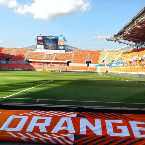Ready for the game.  #dynamo #dynamos #houston #kansascity #texas #futbol #soccer #MLS  (at BBVA Compass Stadium)