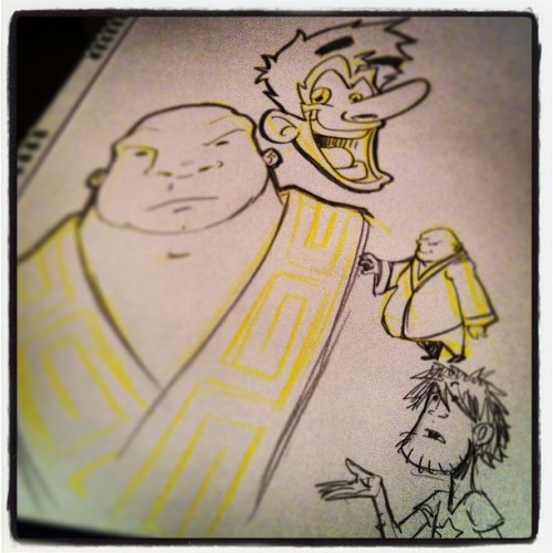 I haven't any #postit , then, I use the yellow #pencil to #draw my #characters!! #lrn #sketch