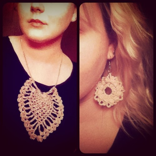 an evening of attempted jewelry making #crochet