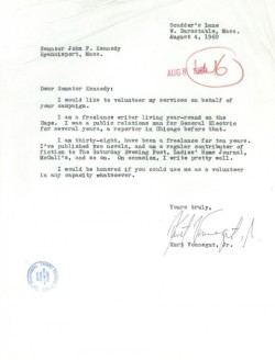 "Kurt Vonnegut to John F. Kennedy: ""On occasion, I write pretty well"" - Open Culture"