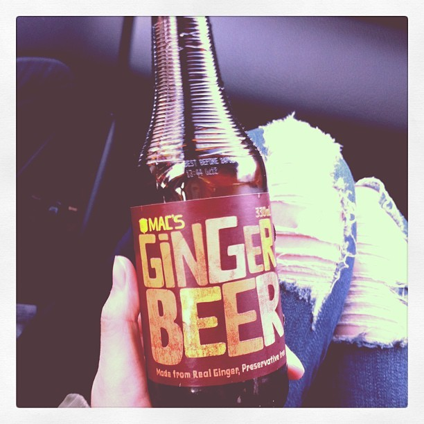 Trying new things! Macs ginger beer. Not bad but bundaberg is better!