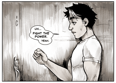 bigbigtruck:  Update for Tuesday, May 21, 2013: Pages 398 and 399 (Chapter 38 pages 3 and 4)  Like lobbing tennis balls at a brick wall.