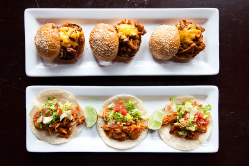 blendabout:  Pulled Pork Sliders & Brisket Tacos from The Pub at Ghirardelli Sqare in San Francisco, CA. Yes, they really taste as good as they look. Don't believe us? Try it out for yourself at the next group meal, happening on June 8th