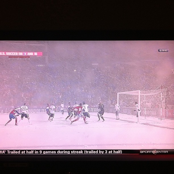 Soccer is tough, but soccer in a blizzard is ridiculous! #USMNT #WorldCupQualifier  #USAvCRC #Soccer