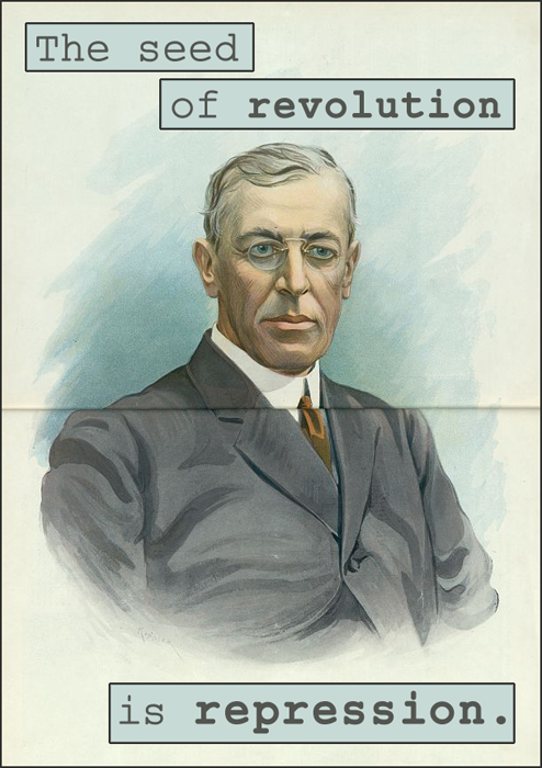 Woodrow Wilson, from his 7th Annual Message to Congress, December 2, 1919.  The illustration is by Udo J. Keppler, son of renowned satirical cartoonist Joseph Ferdinand Keppler. Udo was cartoonist and editor for Puck Magazine, co-founded by his father. The work originally appeared as a centerfold in Puck on July 24, 1912.