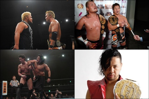 "Pro Wrestling Thursday: NJPW News - Nakamura goes to Mexico while the Jrs stay to play It's commonly known that NJPW and CMLL have a pretty open relationship. Just happy that Shinsuke is going to keep active by spending his time by there while the Jr heavyweights take the air. I'm pretty interest in seeing how Shinsuke works with the lucha. Sure he does a bunch of springboard moves but I'm more interested in his stiff style and how that would work in cause the only move they're really stiff with in CMLL is chop. I like Togi Makabe but this should be an easy win for Okada that's just there to build up the prestige of his reign. Wasn't happy about how TenKoji took the belts. The 4 way tag match was such a mess. Really bad way to end a young heel team's reign. Taking the belts off the champs in a multi contender match should be a heel gimmick not a vetaran face one. Actually would've been fine if CHAOS took the belts since they had a lot of momentum for their Road matches. Killer Elite Squad deserved better and now they look like garbage for Suzuki-Gun.  The team could at least get a regular tag team match. I feel like DH Smith or Archer are leaving so NJPW is trying to find another opportunity to get another rivalry going.  Kind of hoping Shibata/Goto would get a stipulation for their match so it doesn't end the same way but it still should be a good contest. Naito/Takahashi should be pretty good. Easily Naito is going to get the win but I can see Yujiro pulling off some nasty tactics to get his way. keepingthespiritalive:  [NJPW News] New Japan announced matches for the next big iPPV on June 22nd and Shinsuke Nakamura heads to CMLL.First up, Nakamura will be heading to compete in CMLL while the BOSJ XX is taking prominence during this next tour. He will be heading to Mexico next week on May 11th and will remain there for the next month until June 12th.Then New Japan officially announced 4 matches for the upcoming DOMINION iPPV on June 22nd.Okada pulled out his first successful defense against Minoru Suzuki this past weekend and already has his next challenger to be against Togi Makabe. Okada previously faced Makabe in last years G1 Climax, which saw Okada victorious, and this match is poised to be a revenge match for Makabe.Following the 4WAY IWGP Tag Championship match on 5.3, TenKoji have once again emerged as the champions. This definitely was not the way that the former champions in ""K.E.S."" (Archer & Smith) wanted to have it settled as they were not even involved in the finish in anyway. You have to know that K.E.S. will be looking to reclaim their lost belts, but with yet another multi-team match that leaves a whole other dynamic to the match.Due to the double knochout finish from the 5.3 show, New Japan has once again placed Goto and Shibata in a single confrontation at DOMINION 6.22. Nothing was settled between the two in the last match and could this next showdown be yet a replay of this last bout, or will someone finally be standing in the end?Lastly, Tetsuya Naito announced his return to the ring on 5.3 to be on June 22nd. Naito has spent the last 7-8 months sidelined due to a knee injury and will be going against his former tag team partner and current rival in Yujiro Takahashi. Their last meeting saw Yujiro blatantly attack Naito's knee and that lead to Naito being forced out to undergo surgery on his knee. Will Naito be able to exact some much needed revenge or will his time away from the ring prove to be too much against ""Mr. R Rated""?~ Be sure to check out the link below for the information regarding the BOSJ XX which begins later this month.http://wp.me/p1NzQs-3NMBelow is the announced card at this time for the DOMINION 6.22 show.New Japan Pro Wrestling ""DOMINION 6.22"", 6/22/2013 [Sat] 17:00 Osaka BODY MAKER COLOSSEUM (Osaka Prefectural Gymnasium)(-) Tetsuya Naito's Return Match: Tetsuya Naito vs. Yujiro Takahashi(-) Special Single Match: Hirooki Goto vs. Katsuyori Shibata(-) IWGP Tag Championship 3WAY Match: [62nd Champions] Hiroyoshi Tenzan & Satoshi Kojima vs. [Challengers] Toru Yano & Takashi Iizuka vs. [Challengers] Lance Archer & Davey Boy Smith Jr.~ 1st title defense.(-) IWGP Heavyweight Championship Match: [59th Champion] Kazuchika Okada vs. [Challenger] Togi Makabe~ 2nd title defense."