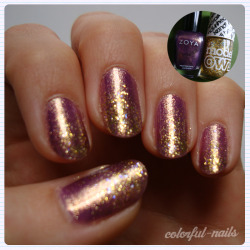 Zoya 'Daul' with Models Own 'Disco Heaven' glitter gradient.
