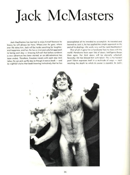 From IN TOUCH SPECIAL EDITION vol 1 no 2 (1976) Model is Jack McMasters