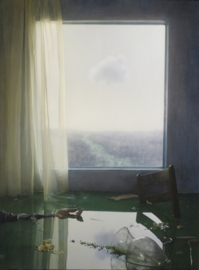 "This image is from the 'Gray Dawn' series by Robert & Shana Parkeharrison. Their surreal and poetic work ""attempts to provide powerful impact both visually and viscerally."""
