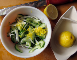 lemon onion & cucumber salad by you can count on me on Flickr.