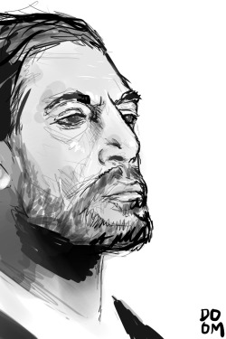 Javier Bardem sketch using photo reference in Manga Studio 5