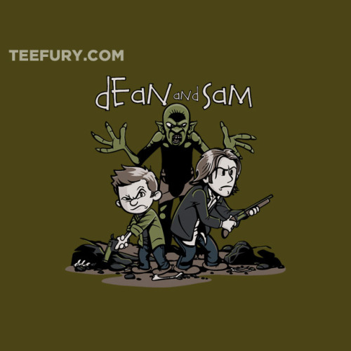 teefury:  Dean and Sam by davidj8580 - May 17th at http://teefury.com  Midnight can't come fast enough. I need this shirt like I need air.