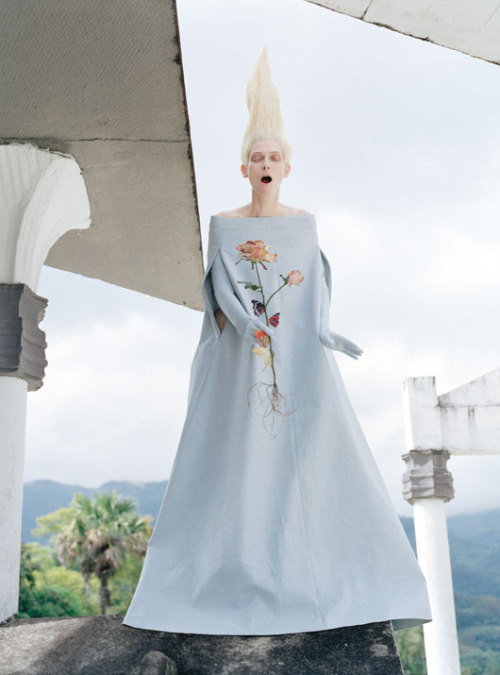 gemmalard:   Tilda Swinton in 'Stranger Than Paradise' photographed by Tim Walker for W, May 2013