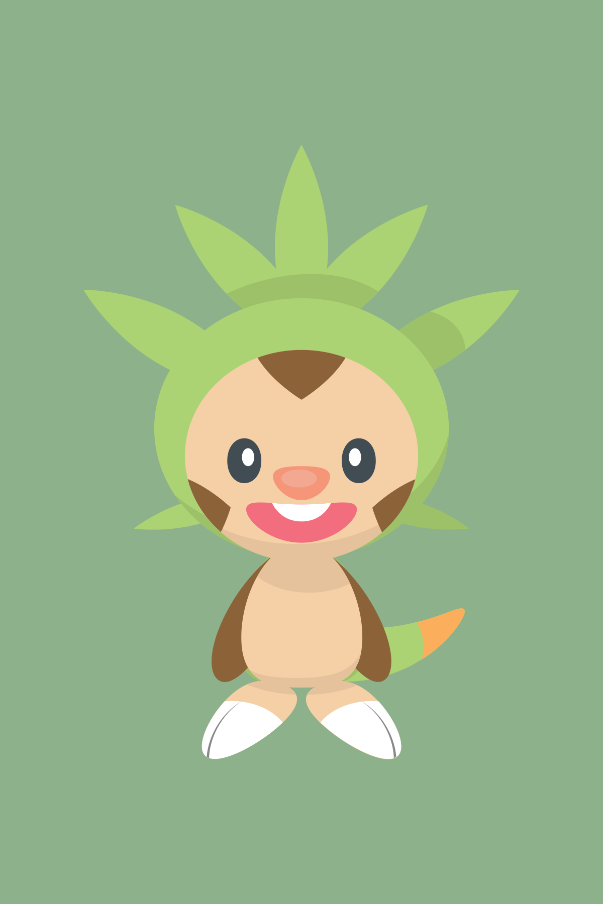 Chespin, the Shelled Chestnut Pokémon.
