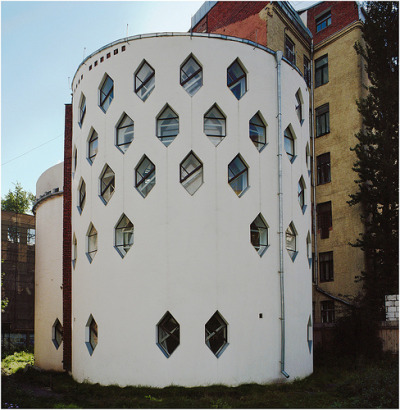 Melnikov House in Moscow, Russia from Richard Pare's The Lost Vanguard