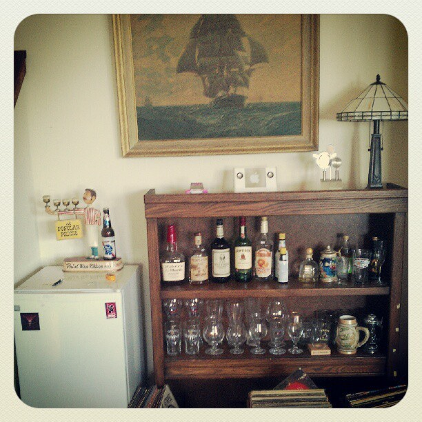 A humble start on our home bar.