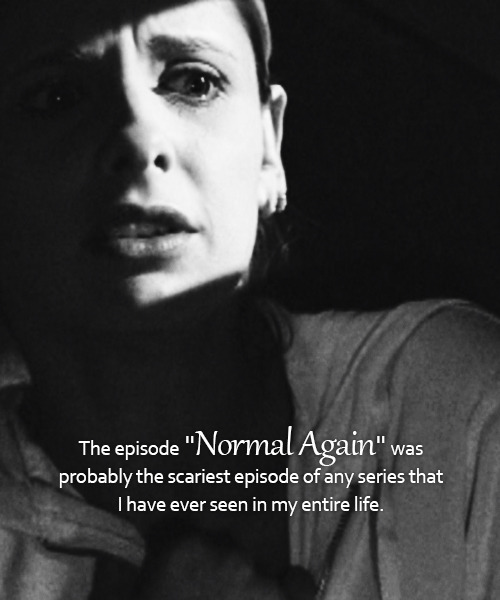 "The episode ""Normal Again"" was probably the scariest episode of any series that I have ever seen in my entire life."
