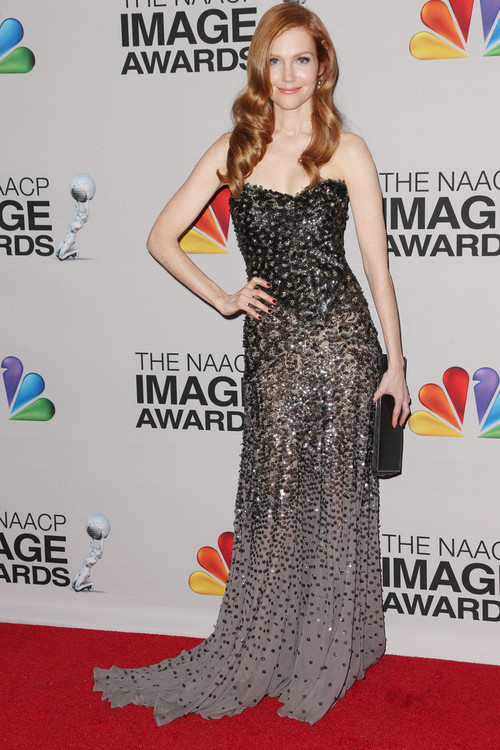 Darby Stanchfield in Donna Karan Fall 2012 at the 2013 NAACP Image Awards
