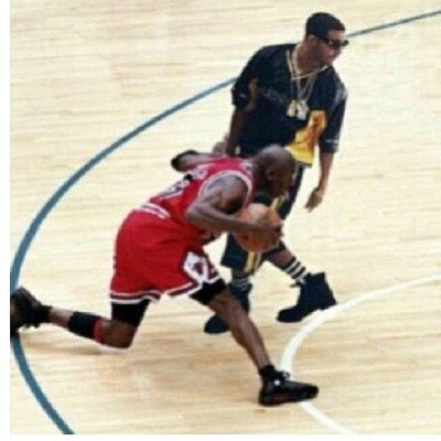 Jordan's last shot on drake .. #lol