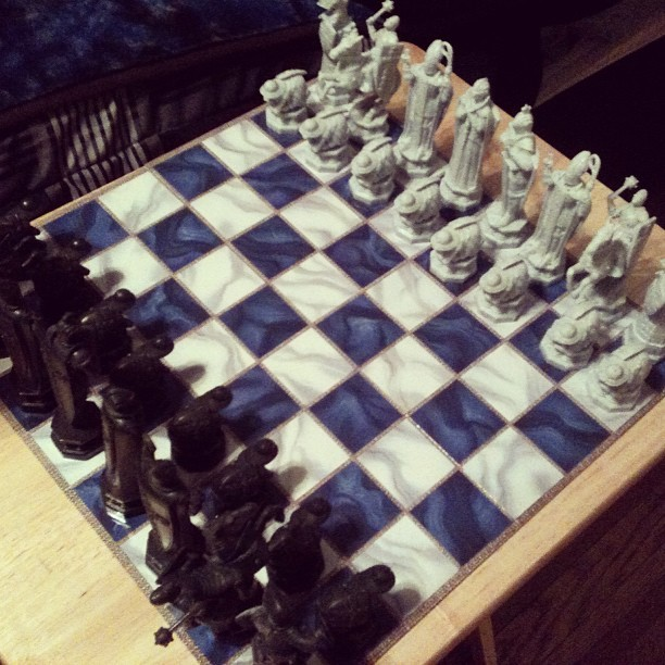 My Saturday night > your Saturday night. #wizardschess #personal
