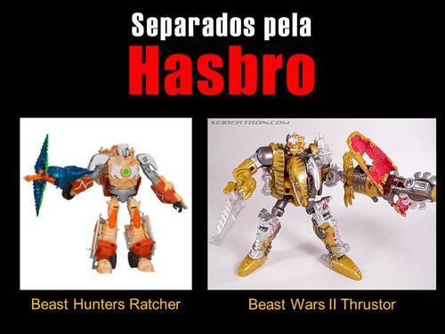Separados pela Hasbro: Ratchet VS ThrustorComparação do Beast Hunters Ratchet (Transformers Prime) americano com o Thrustor (Beast Wars II)…View Post