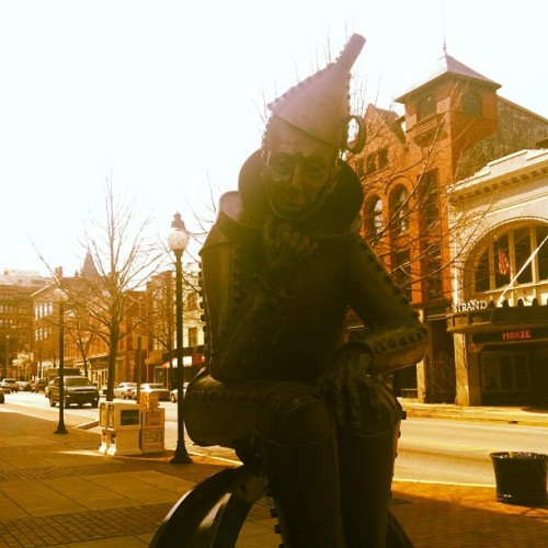 Whatcha thinking about, Tin Man?  (at Downtown York)