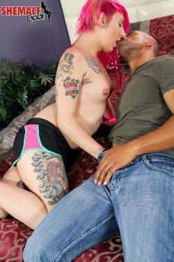 Athena Adams & Robert Axelsexy Punky Transgirl Athena Adams Makes Her Debut