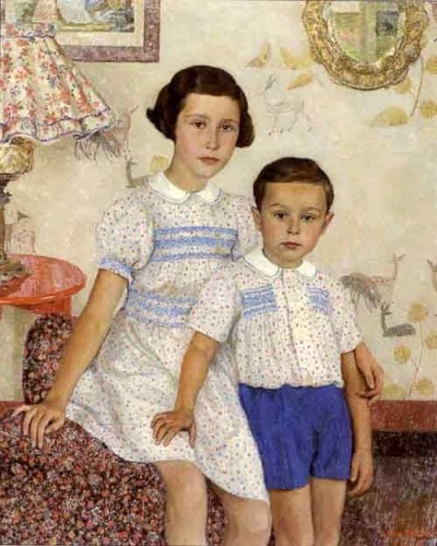 "pullingthingstogether:  Leon de Smet, ""Two Children in an Interior"""
