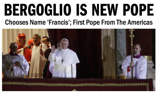 New Pope Is 76 Years Old … First Pope From Outside Europe In More Than A Millennium …Chooses Name 'Francis' … WATCH: Greets Crowd … SLIDESHOW: Pope Francis