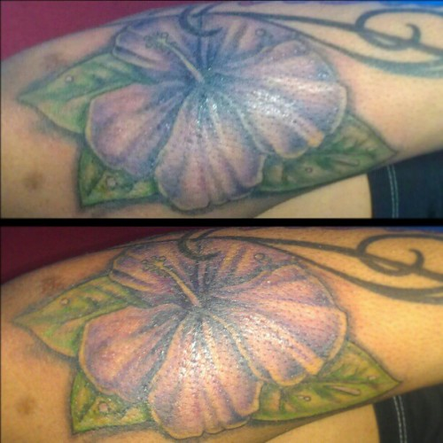 #flower #hawaii #hawaiian #flower #plant #miniscus #colors #tattoo #ink #dementophobia #art #lovethisart #love #girl #boy #nyc #queens