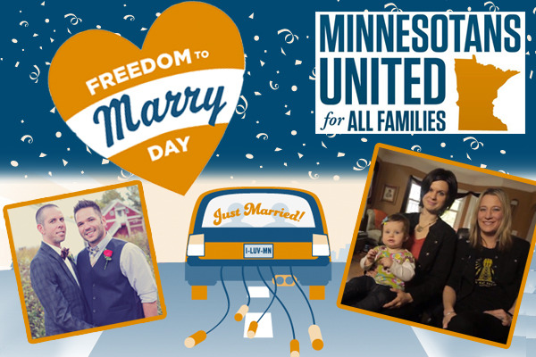2013 could be the year that Minnesota wins the freedom to marry, completing the conversation from last year, when the state came together to defeat an anti-gay constitutional amendment. Polling shows that a plurality of Minnesotans support the freedom to marry! Read more and reblog this photo to show your support!