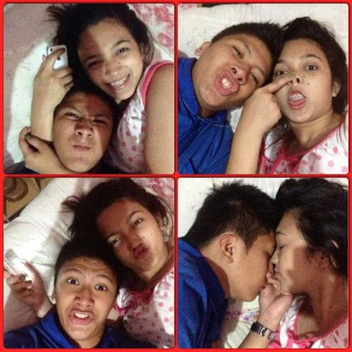 Shit faces of US! Good night  😴 (at Baras Rizal Tampoy Village)