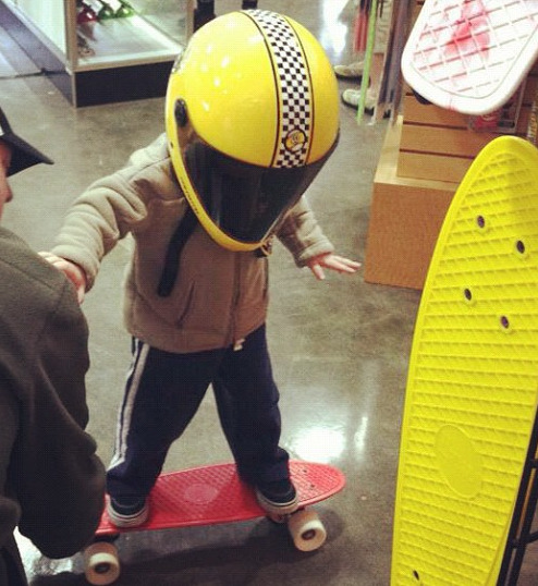 daddiesboardshop:  Our motto at Daddies Board Shop: Start them young. Actually, that's not our motto. But maybe it should be.
