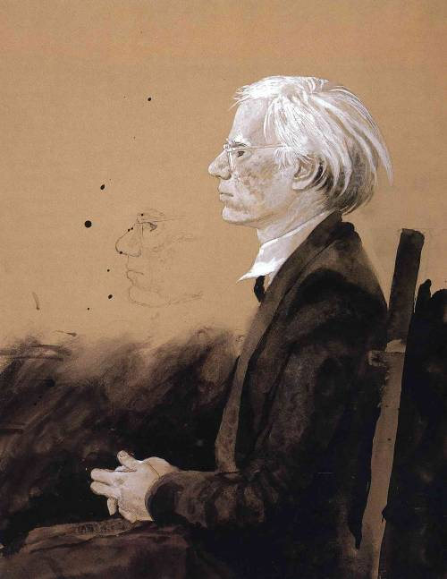 Jamie Wyeth - Andy Warhol  Facing Left  1976 HD